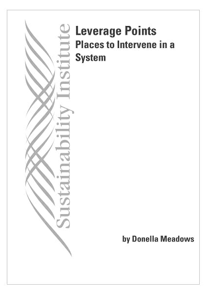 """Portada de """"Leverage Points: Places to Intervene in a System"""""""
